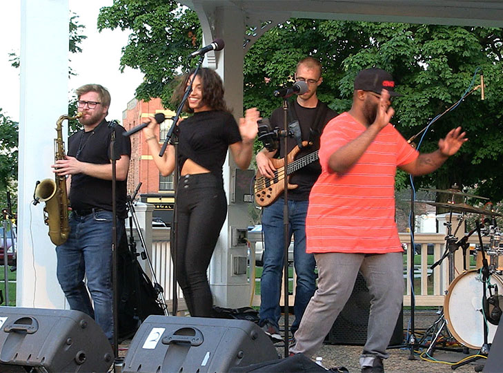 East Coast Soul performs on Waltham Common on August 20, 2019