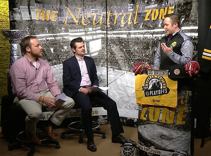 Mike, James and Danny on the Neutral Zone Set