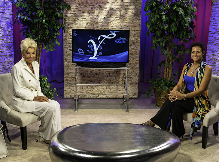 Yolanda with Angela Cornacchio after taping an episode of Yolanda Style & Glamour