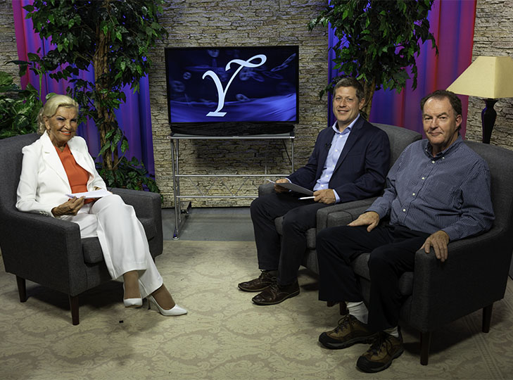 Yolanda, Randy LeBlanc and Bob McGann on set after a taping of Yolanda Style & Glamour