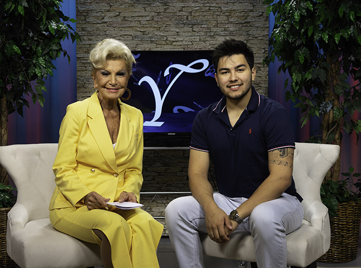 Yolanda and Gilly on set after taping an episode of Yolanda Style & Glamour
